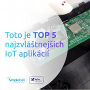 internet vecí, iot, top 5, aplikácie, sigfox